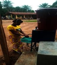 Handwashing @ Foya-Borma Hospital