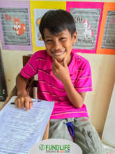 A child During Community Learning Session