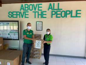 Donation of 100 face-shield to Dpt of Health Cebu