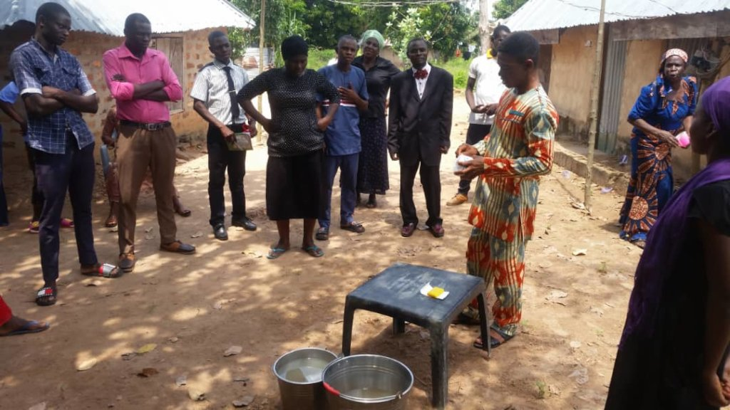 Coronavirus Prevention training to rural villages