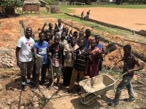 Community members volunteering