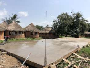 Completed Foundation of the 3 Classroom STEM Block