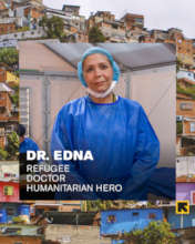 Dr. Edna Patricia Gomez, refugee and doctor
