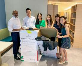 Team participation Get Redressed Clothing Drive