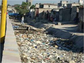 Haiti - Trash Waste in City Soleil's Canals