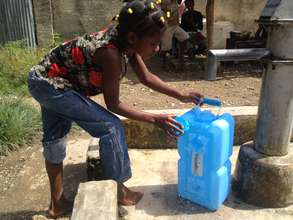 Retrieving Water in Haiti