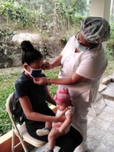 A GFC partner in Honduras providing medical care.