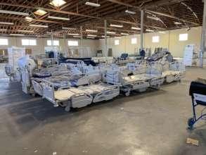 Hospital Beds Prepped for Shipment