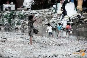 Children from the slum