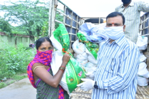 donation of food provisions to poor migrant worker