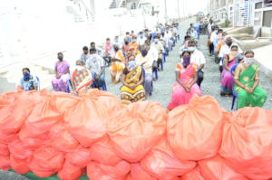 Groceries kits distribution to migrant labourers