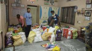 Relief material kits to poor daily wage earners