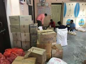 Food provisions sponsorship to poor slum dwellers