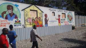A mural in Haitian Creole in Belladere