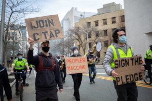 Supporters of the People's Vaccine, Cambridge, MA