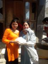 Our field member with an Apne Aap girl