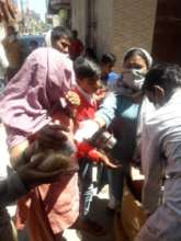 Distribution of basic supplies