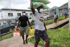 ActionAid staff prepare Covid-19 distribution pack