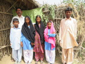 family in rural Sindh