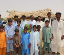 Community school in rural Sindh