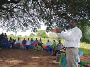 Martin Kariongi working the Maasai community