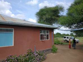 Rainwater collection at Terrat Dispensary