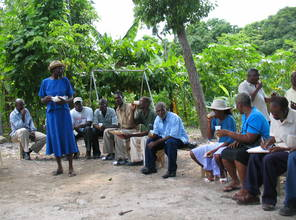 Members of the Center for Plantain Propagation