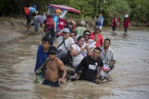 Medical Team navigates flooding in Piura