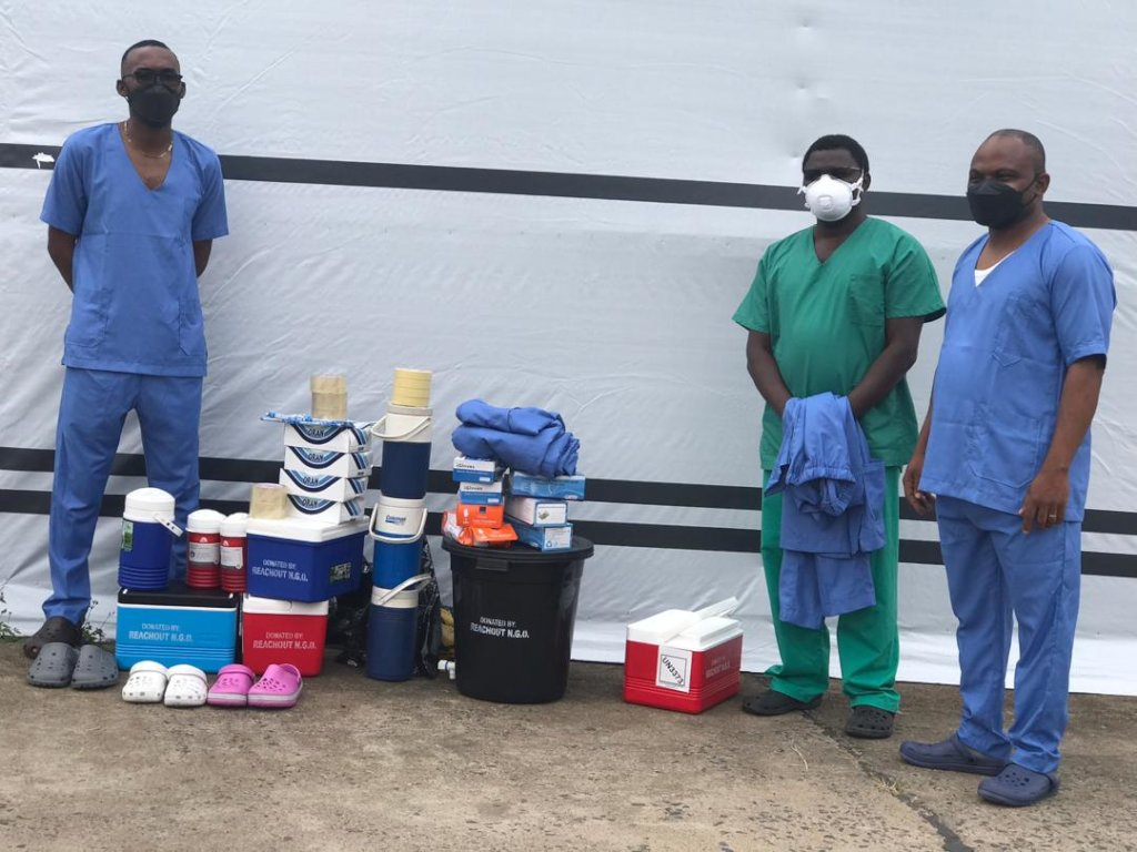 Send face masks to remote health centers