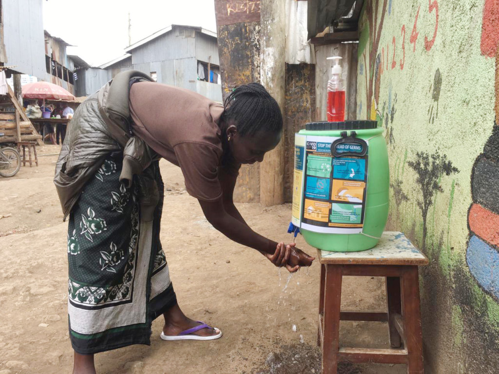 Coronavirus response in Kibera