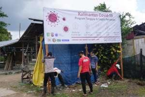 YUM's Kalimantan Covid 19 advisory banner