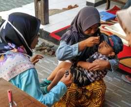 Deworming treatment helps improving child immunity