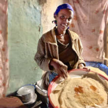 Injera: A staple with each meal
