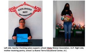 teacher thanking salary support