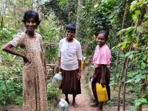 Watering the vegetable plots - Asokapura Farm