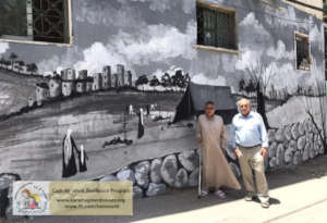 Meaningful historical wallpaintings in Deheishe