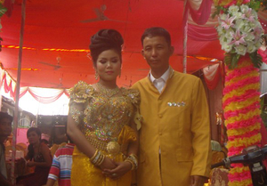 Srey-Pov's wedding day after a difficult journey
