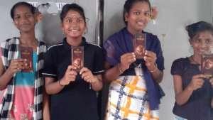 Girls with free chocolates
