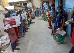Sanitary pad distribution and public education