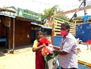 Distribution of Sanitation and Groceries