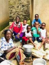 Grandmother and great grandchildren