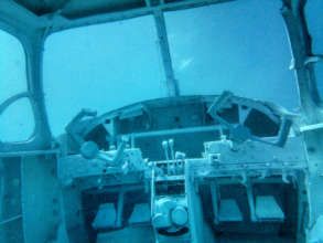 Cockpit of Sharkplaneo