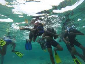 "BVI kids snorkeling ""World Oceans Day"""