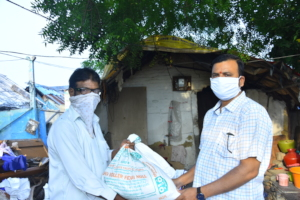 Groceries Donation for COVID19 affected poorfamily
