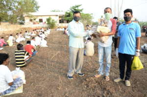 Lockdown in India donation for poorworkers covid19