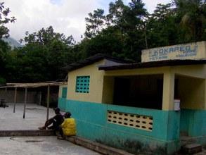 Local grain mill in rural Haiti