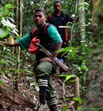 Bateq rangers Roslan and Ali actively patrolling