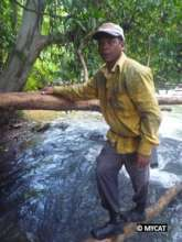 A community member on forest patrol