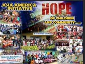 AAI banner made by school Volunteers - Thank you!