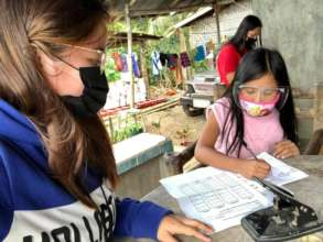 home vists by teachers with protective gear